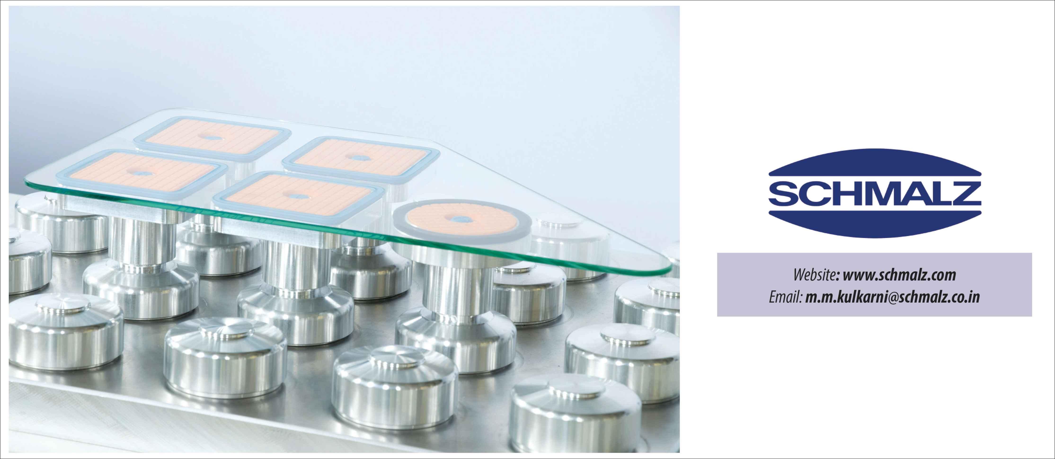 Schmalz optimises vacuum clamping system for glass machining