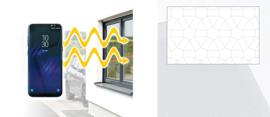 Laser-treated glass suitable for wireless communications