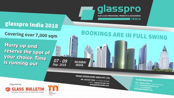 glasspro India 2018 - Bookings Open Now