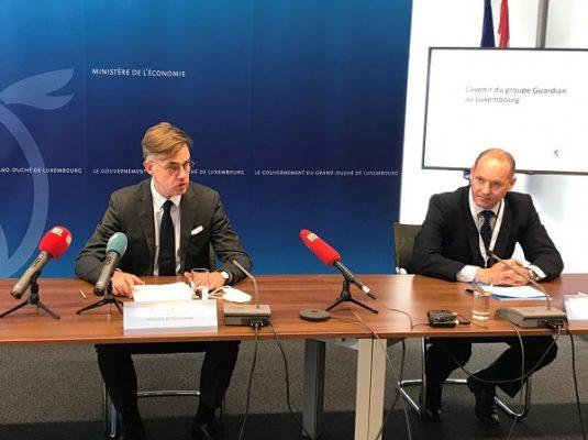Franz Fayot annonce un investissement de Guardian dans une nouvelle ligne de production de verre flotté à Bascharage (10.05.2021)